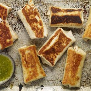 Pati Jinich chimichangas de frijoles con queso