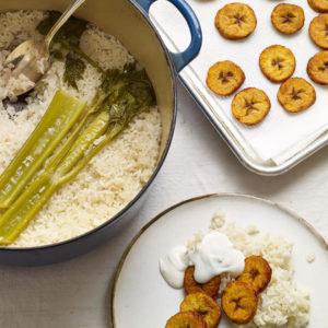 pati jinich arroz blanco con plátanos fritos