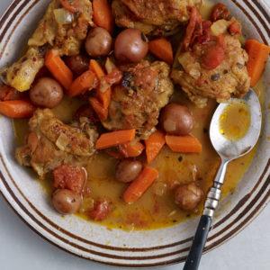 pati jinich pollo con cítricos zanahorias y papitas