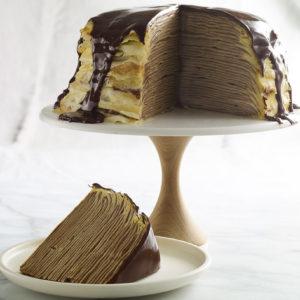 Pati Jinich torre de crepas de chocolate