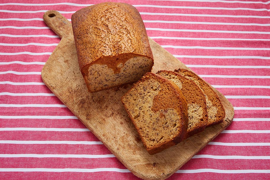 Pan de plátano con Dulce de Leche Caramel Cinnamon