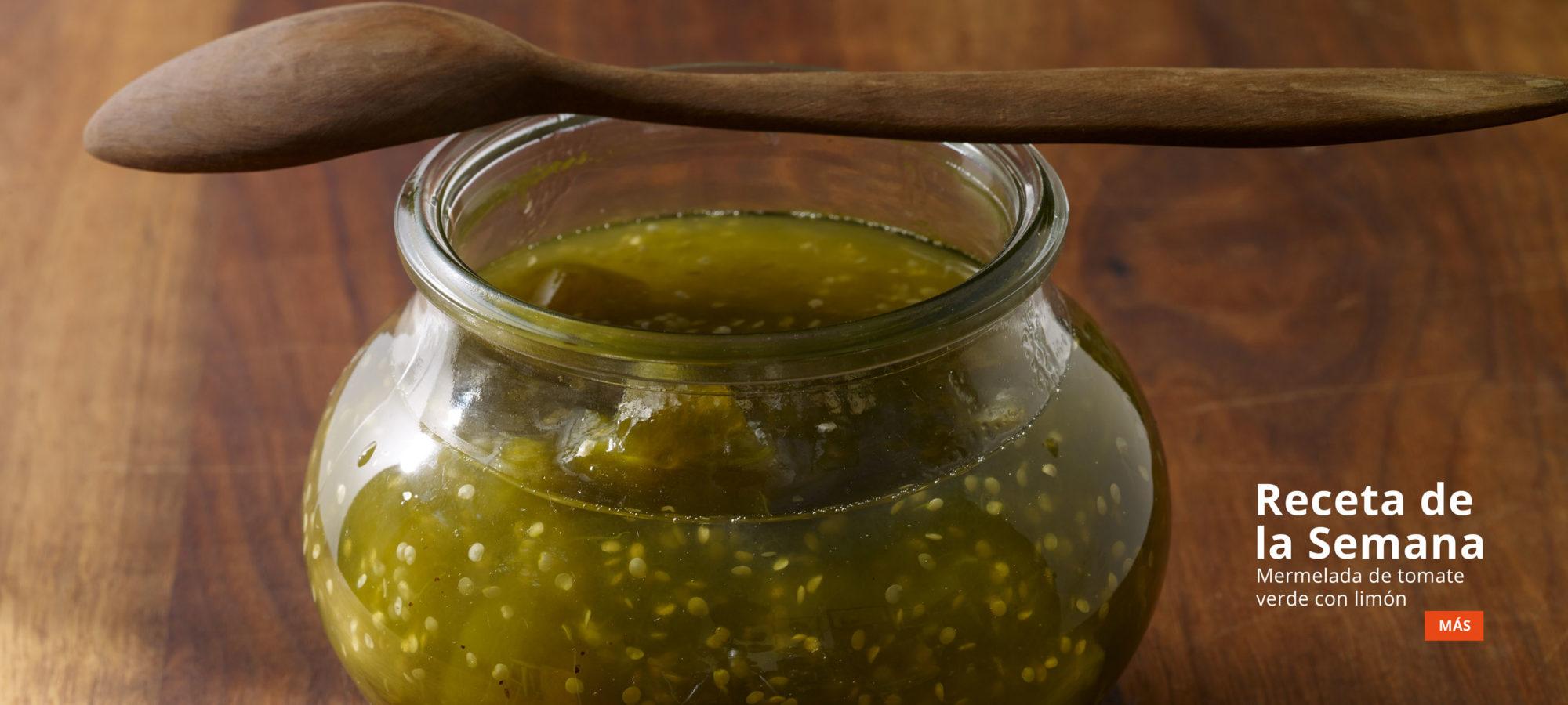 receta de la semana Mermelada de tomate verde con limón