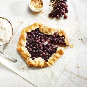 tarta de uvas y cacahuate