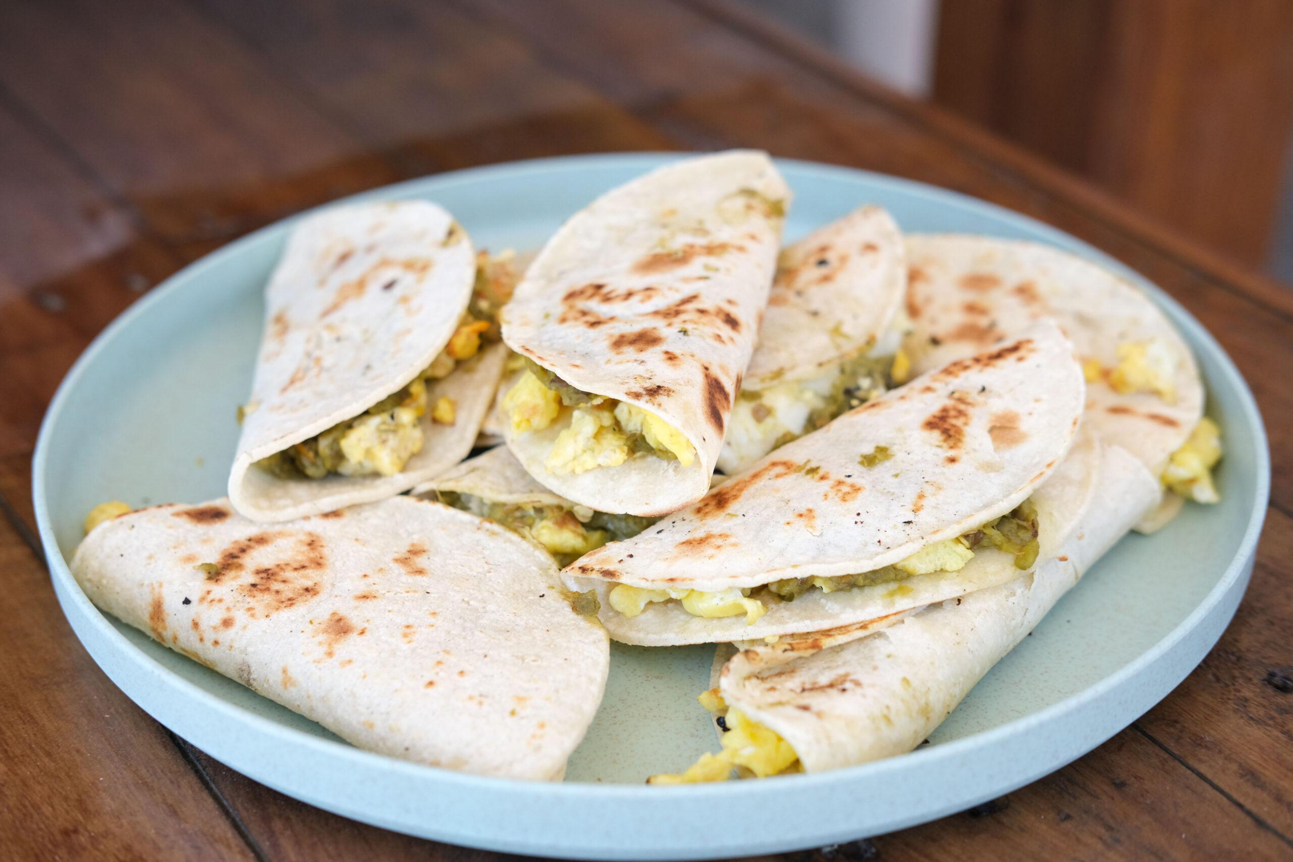Tacos para desayunar de Doña Linda