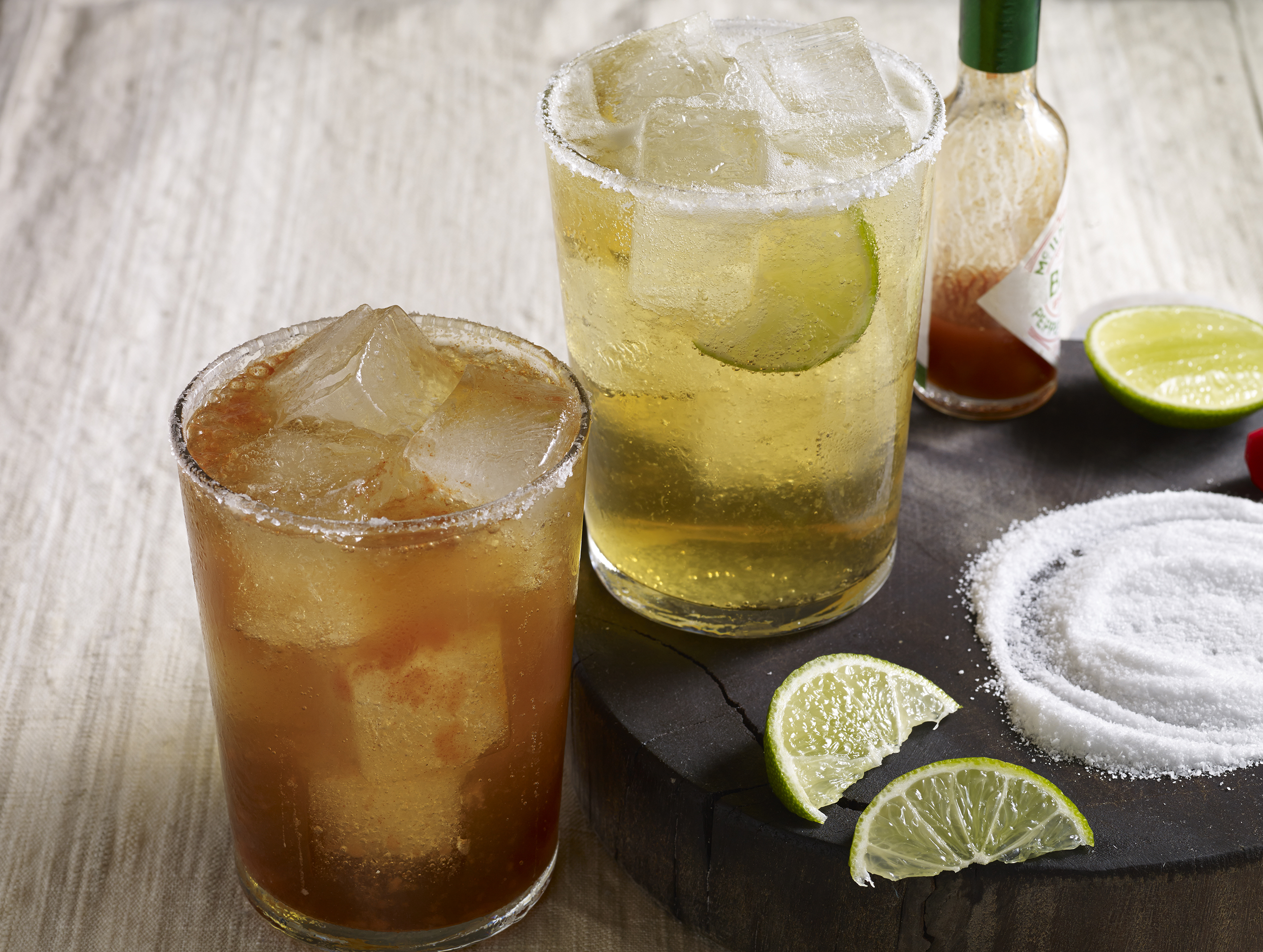 dressed up Mexican beer or michelada