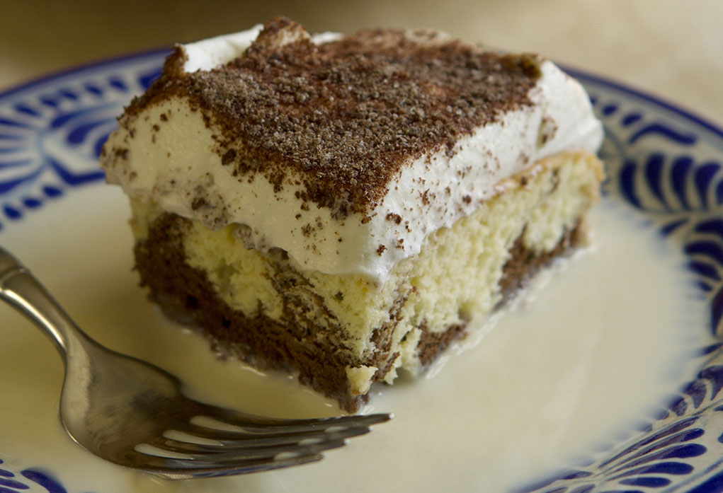 marbled tres leches cake