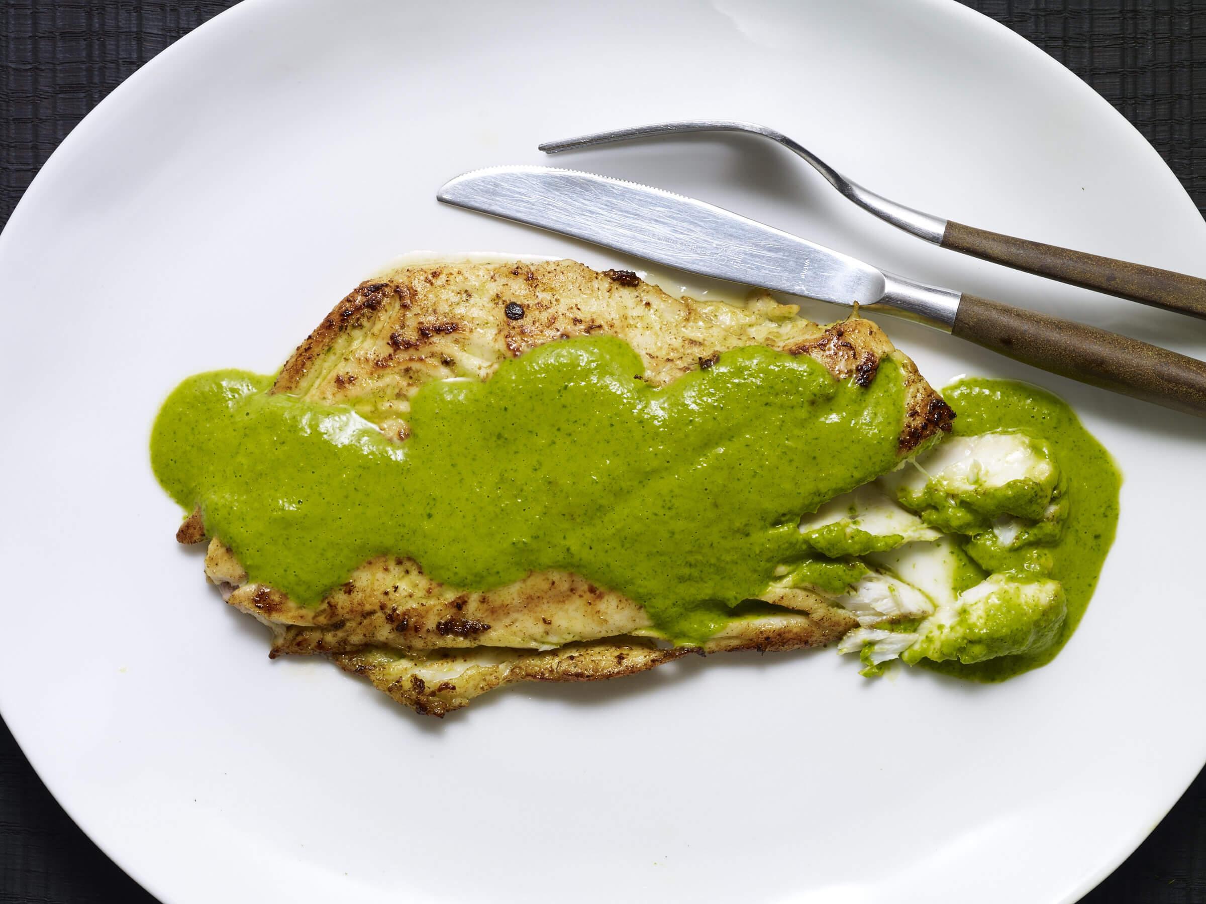 fish in green sauce recipe
