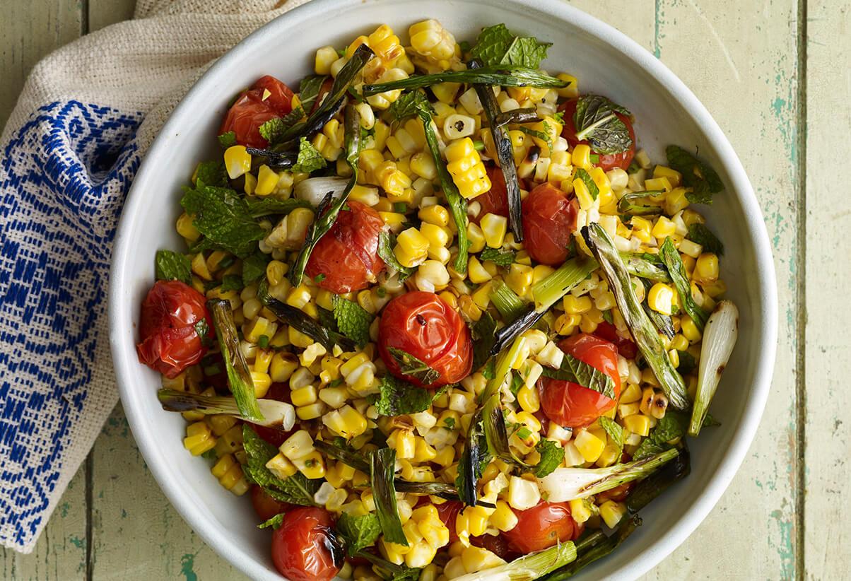 Pati Jinich grilled corn salad