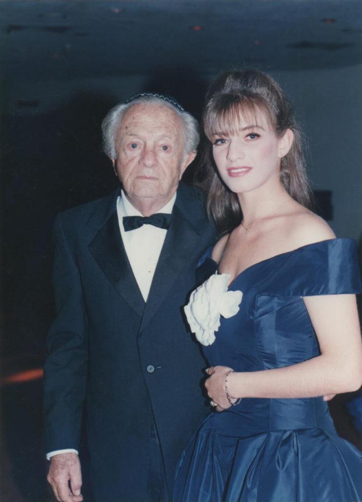 Pati with her Grandpa