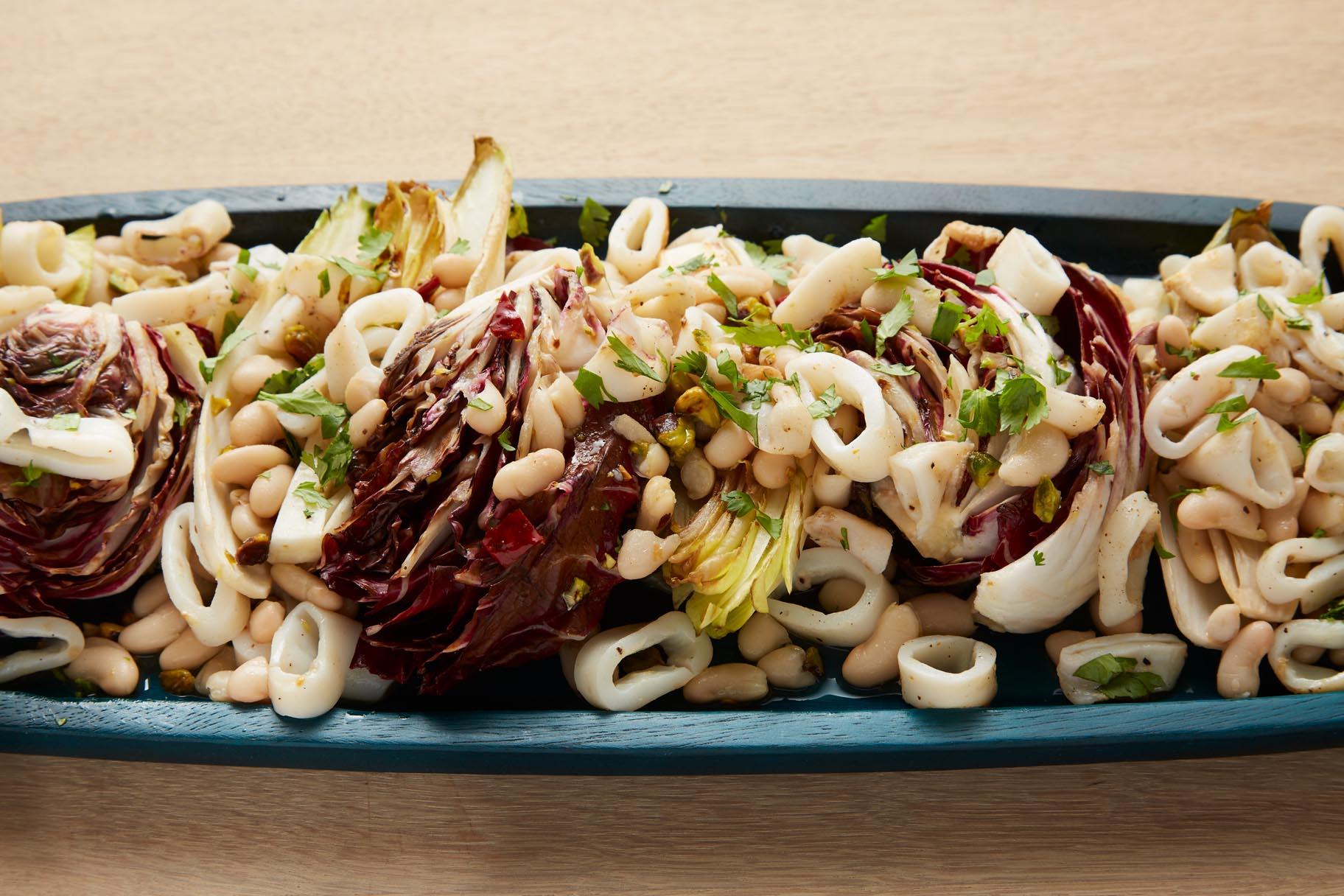 Grilled Calamari, Radicchio and Endive Salad