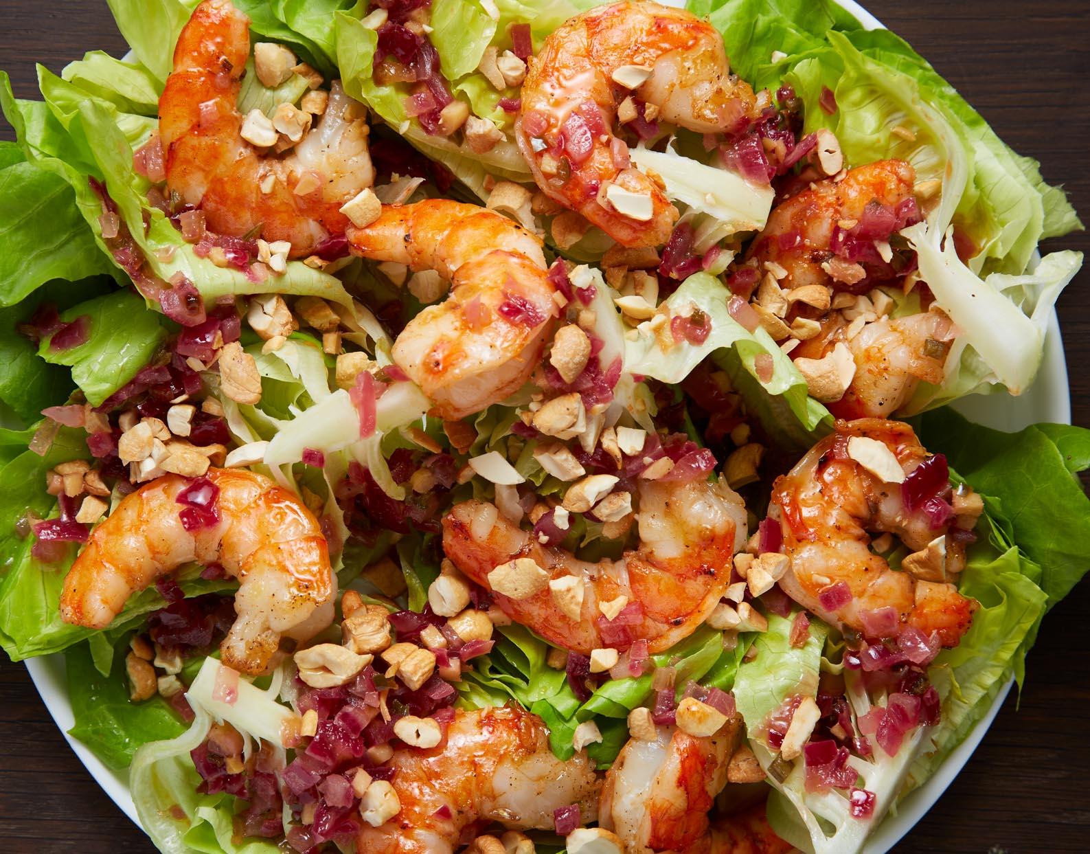 Bibb Lettuce Salad with Grilled Shrimp