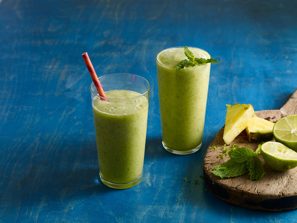 Tropical Mint Pineapple Lime Smoothie