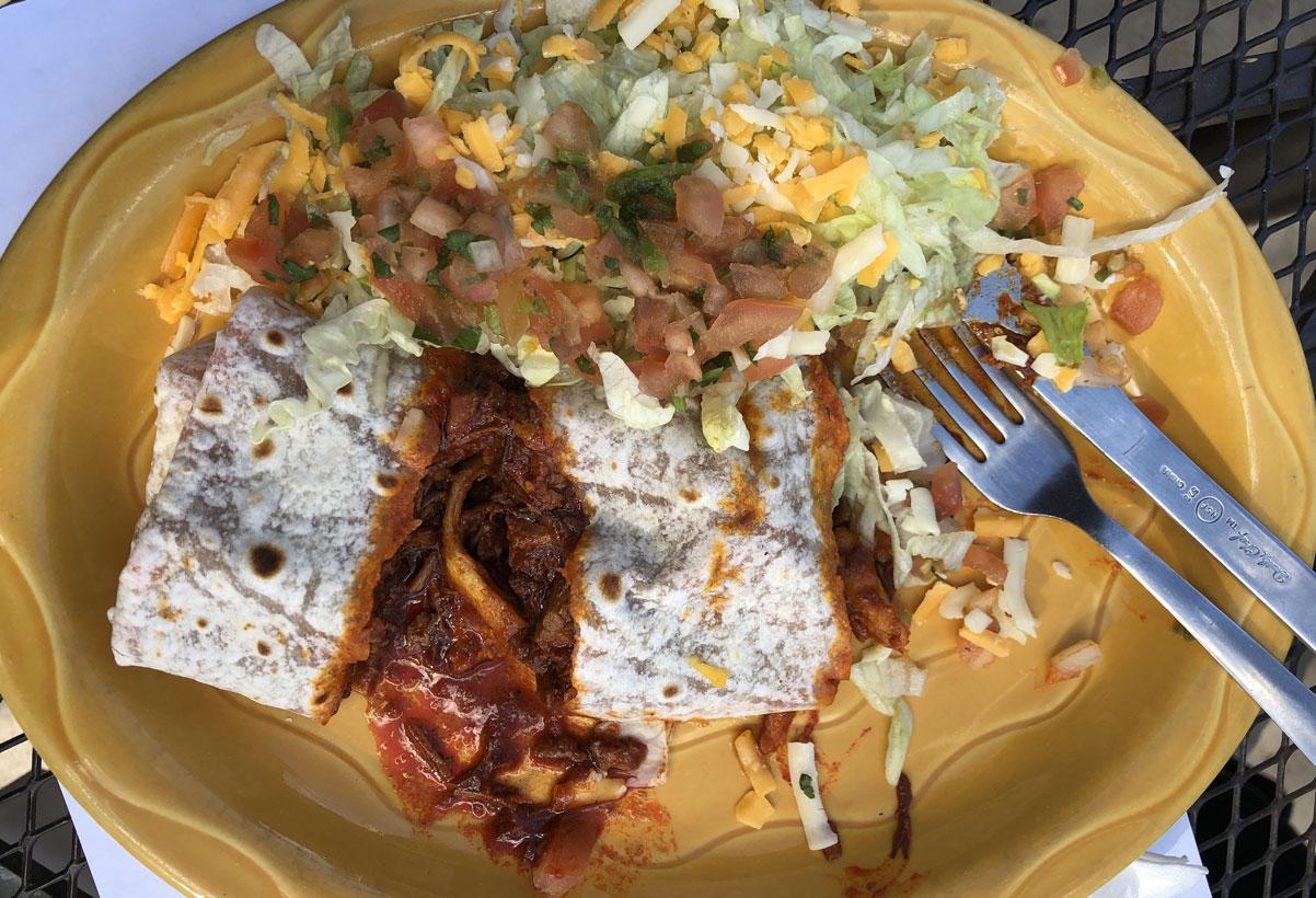 chile con carne burrito