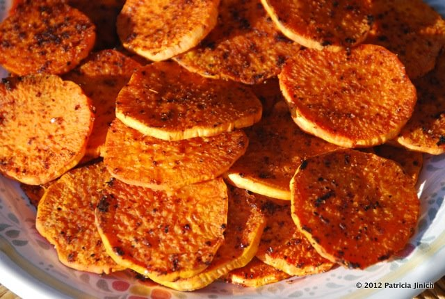 Sweet Potato Rounds with a Punch