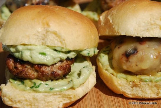 Chipotle Cheesy Pork Sliders with Avocado Spread