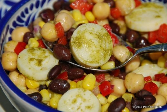 Hearty Bean and Corn Salad with Cilantro Vinaigrette