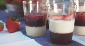 Tres Leches and Strawberry Mexican Gelatin