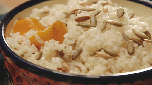 Orange Blossom Rice with Pepitas