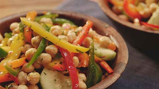 Bell Peppers, Cucumbers and Chickpea Salad