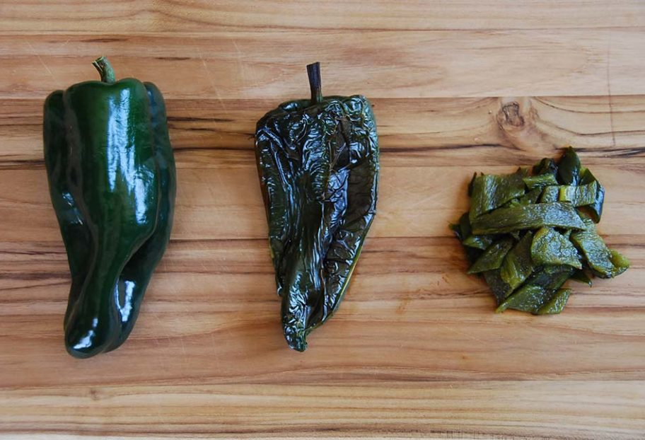 Pati Jinich how to prep poblano chiles