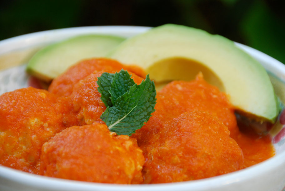 Julio's albondigas with mint and chipotle