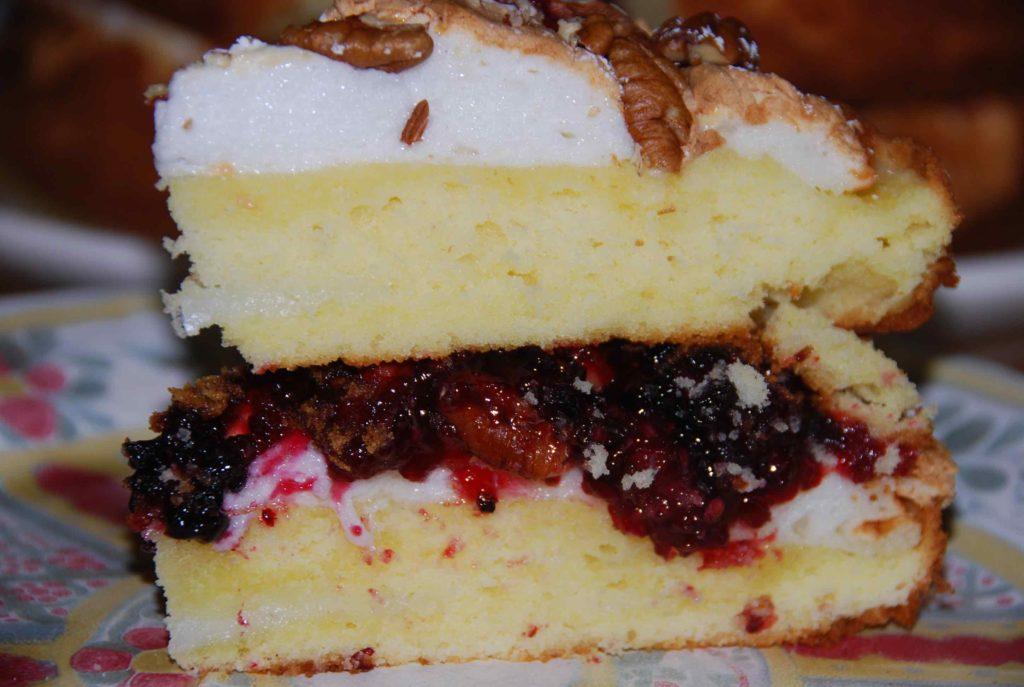 Cake with Meringue and Strawberry Jam 6