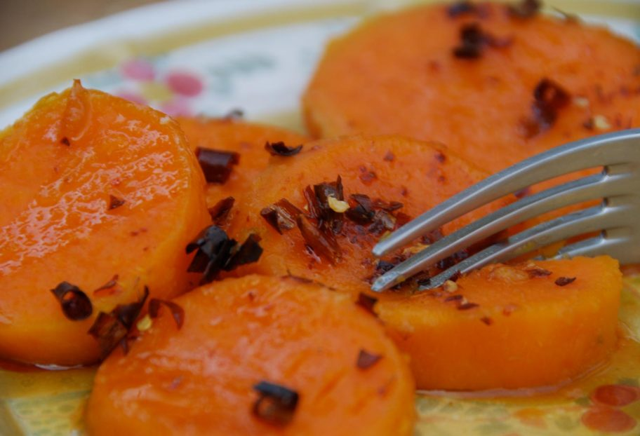 Pati Jinich sweet potatoes with chile de arbol