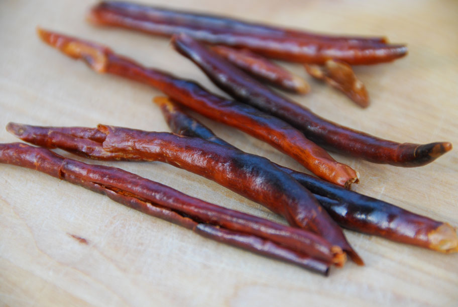 toasted chiles de arbol