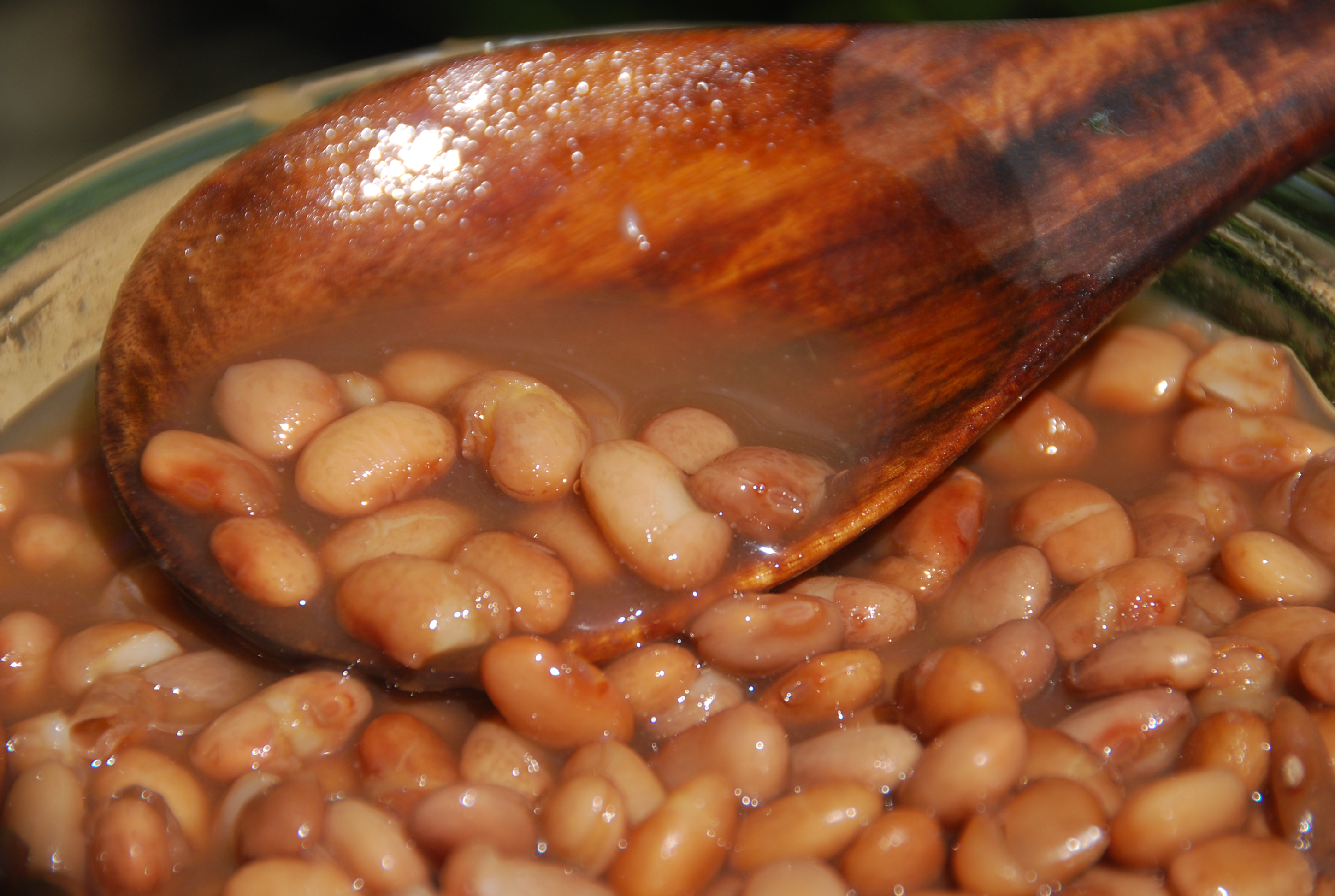beans from the pot or frijoles de olla