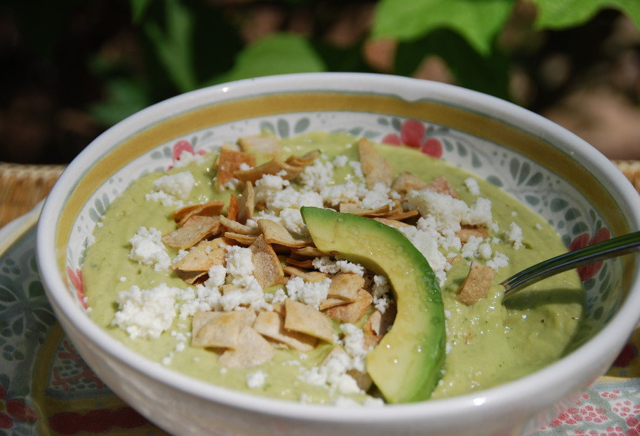 Avocado Soup with Queso Fresco