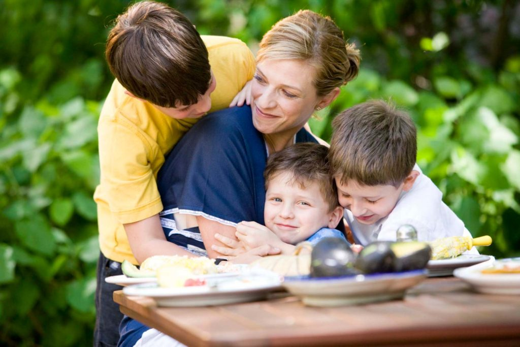 Pati Jinich with her 3 sons