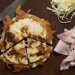 Ham and Cheese Sincronizadas with Flour Tortillas