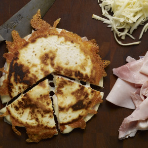 Ham and Cheese Sincronizadas with Flour Tortillas