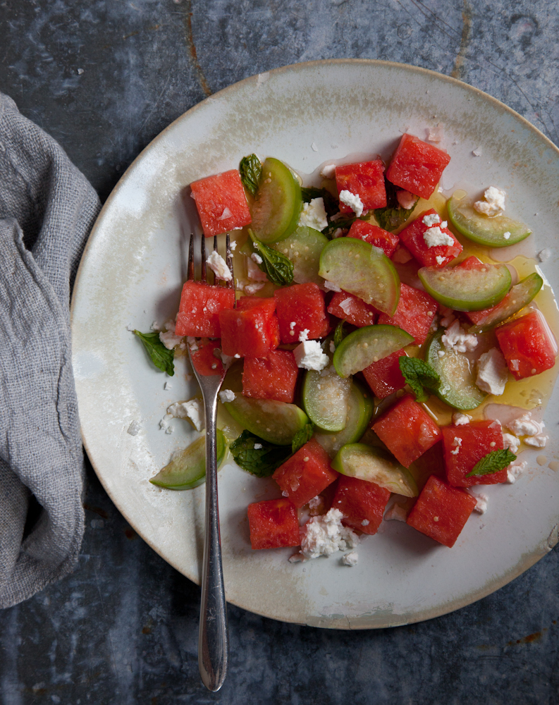 Watermelon Tomatillo Salad