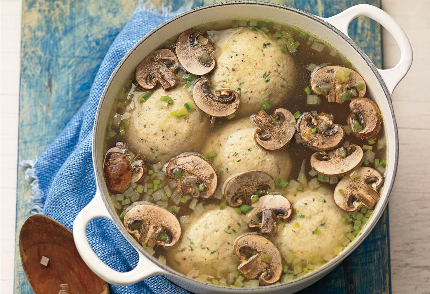 pati jinich mushroom jalapeno matzo ball soup