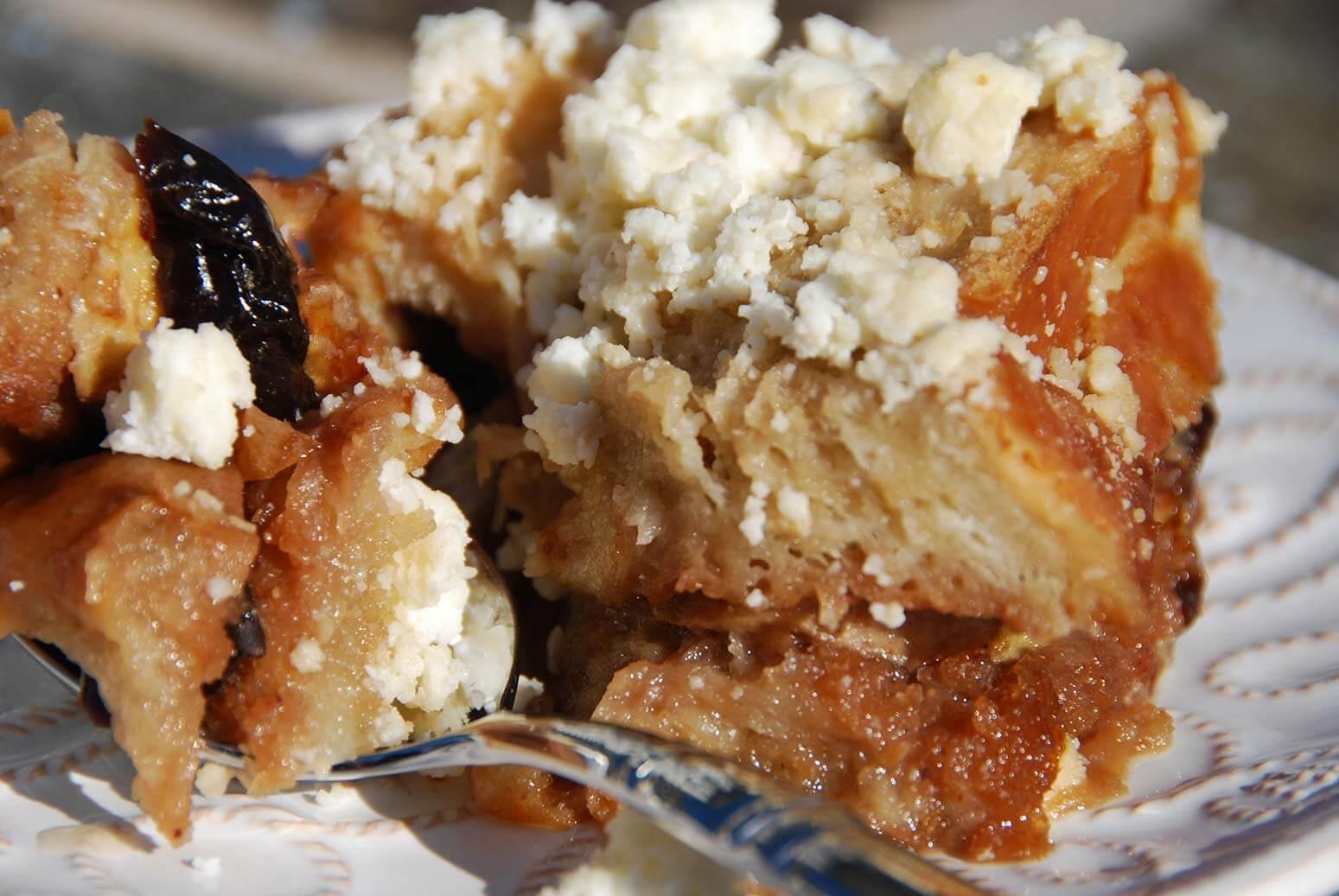 Pati Jinich capirotada or bread pudding recipe