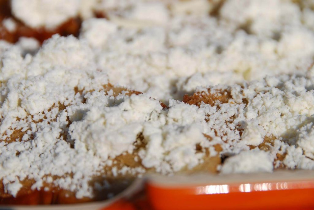 pati jinich capirotada top with queso fresco