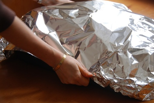 putting barbacoa in the oven