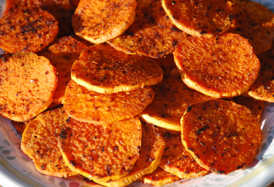 Pati Jinich » Sweet Potato Rounds with a Punch