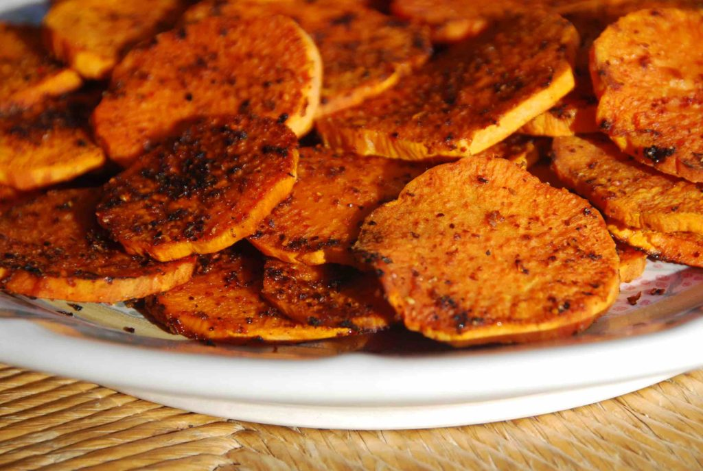 Sweet Potato Rounds with a Punch 1