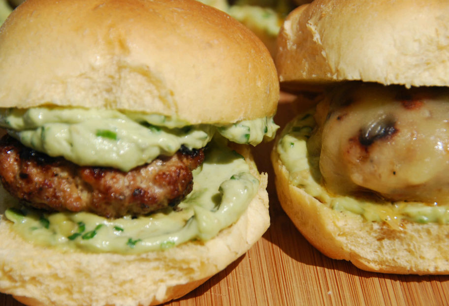 Sean's Cheesy Chipotle Pork Sliders with Avocado Spread