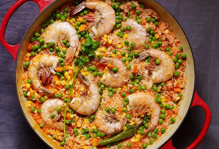 Mexican Rice with Prawns