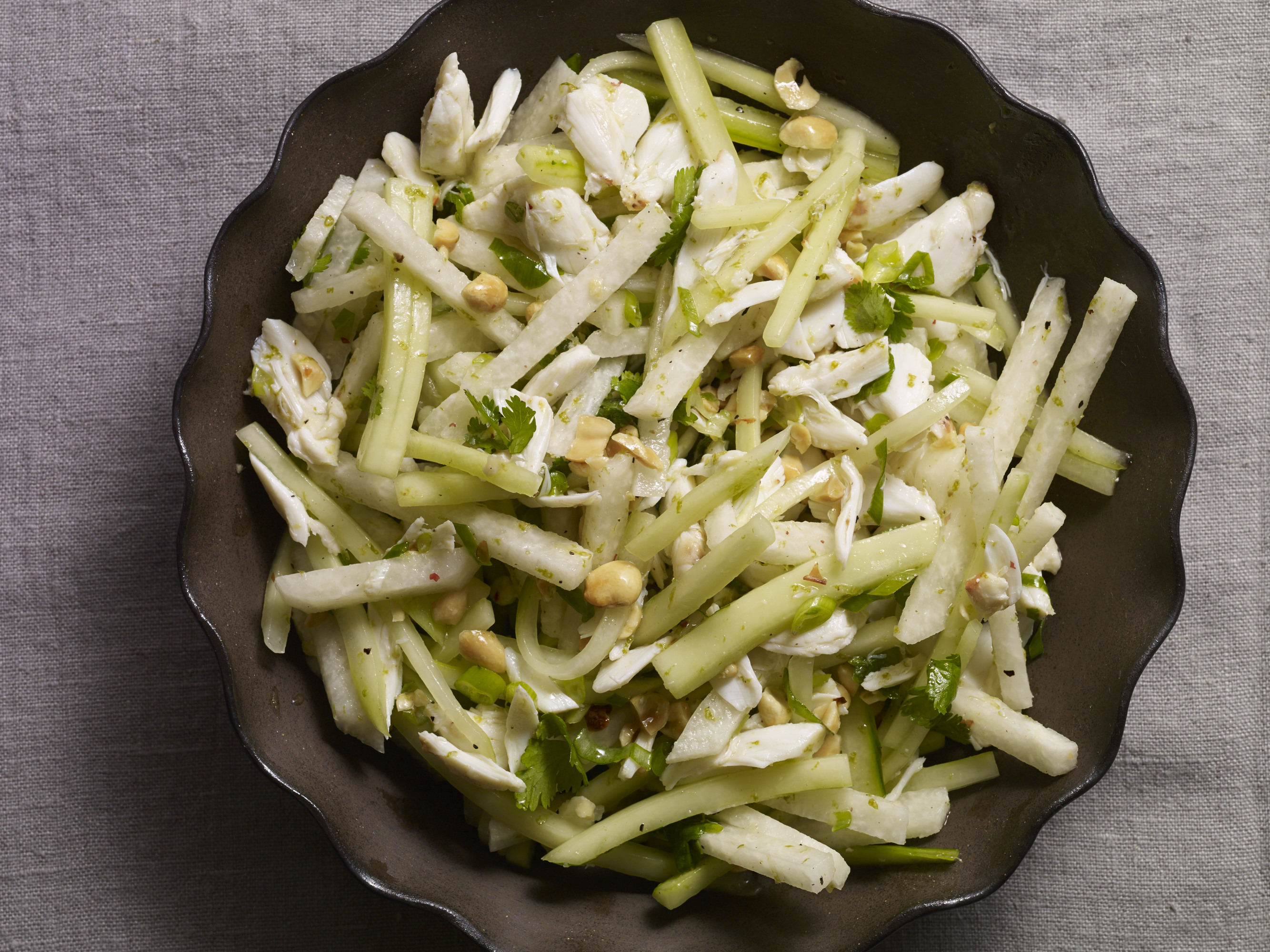 crab, cucumber and jicama salad