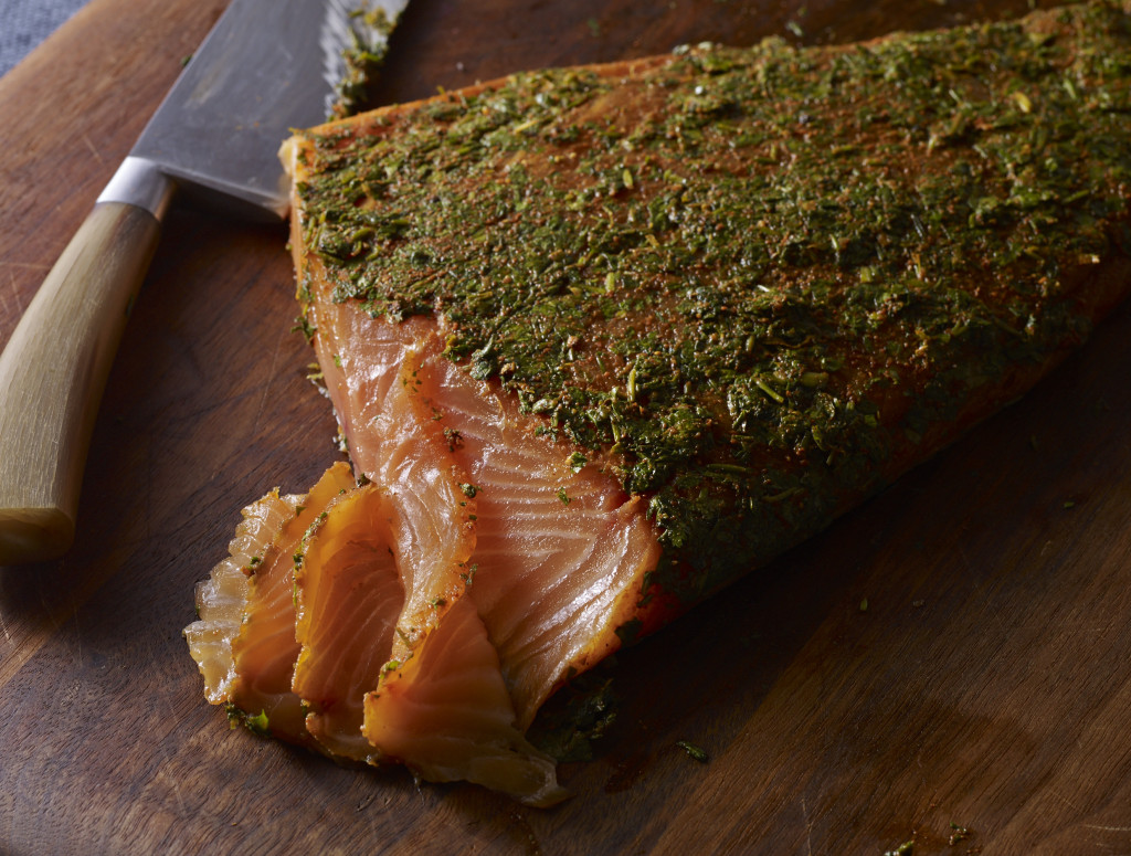 mexican style gravlax with cilantro and tequila