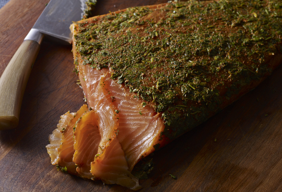 Mexican-Style Gravlax with Cilantro and Tequila