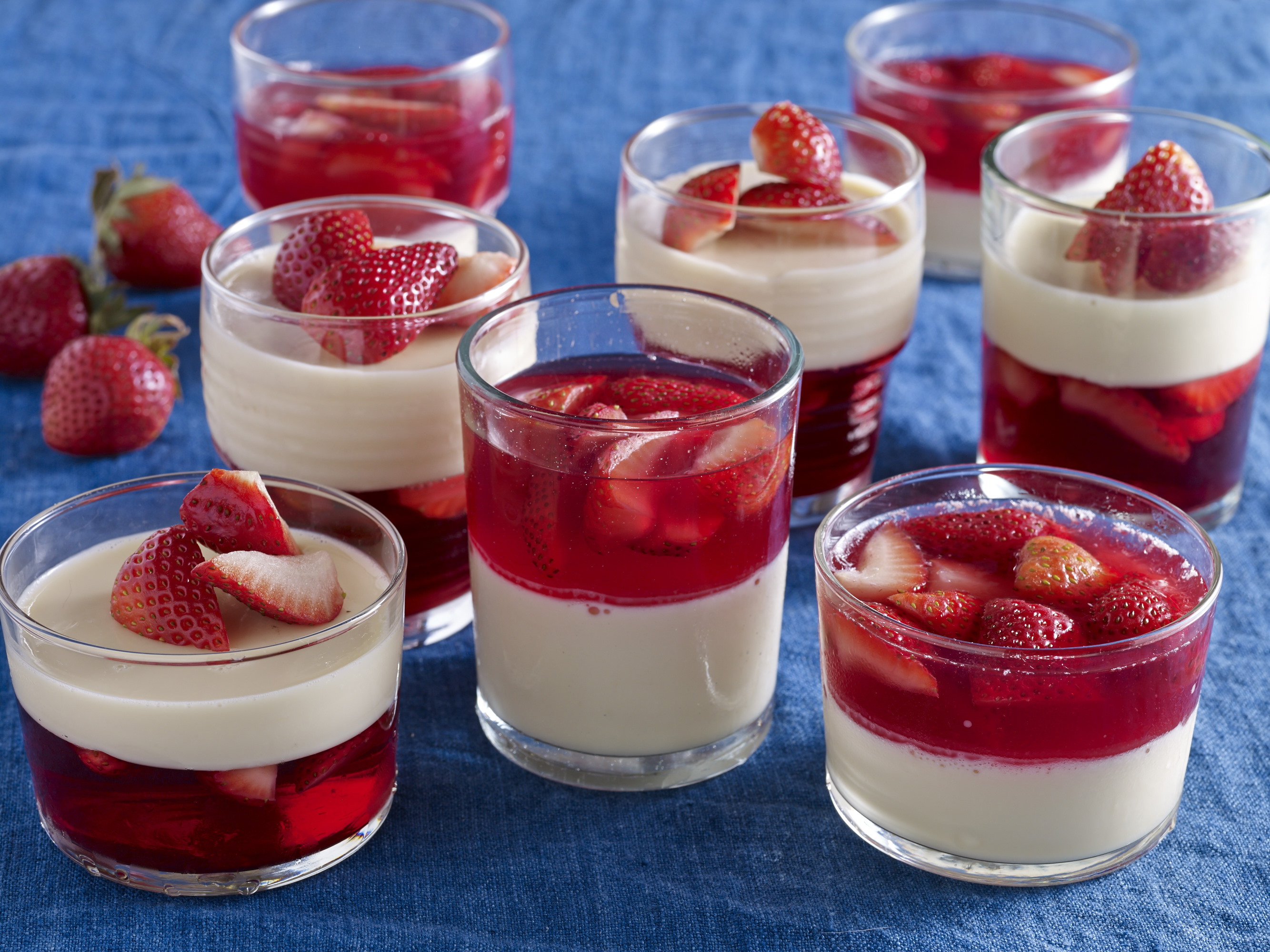 tres leches and strawberry gelatin