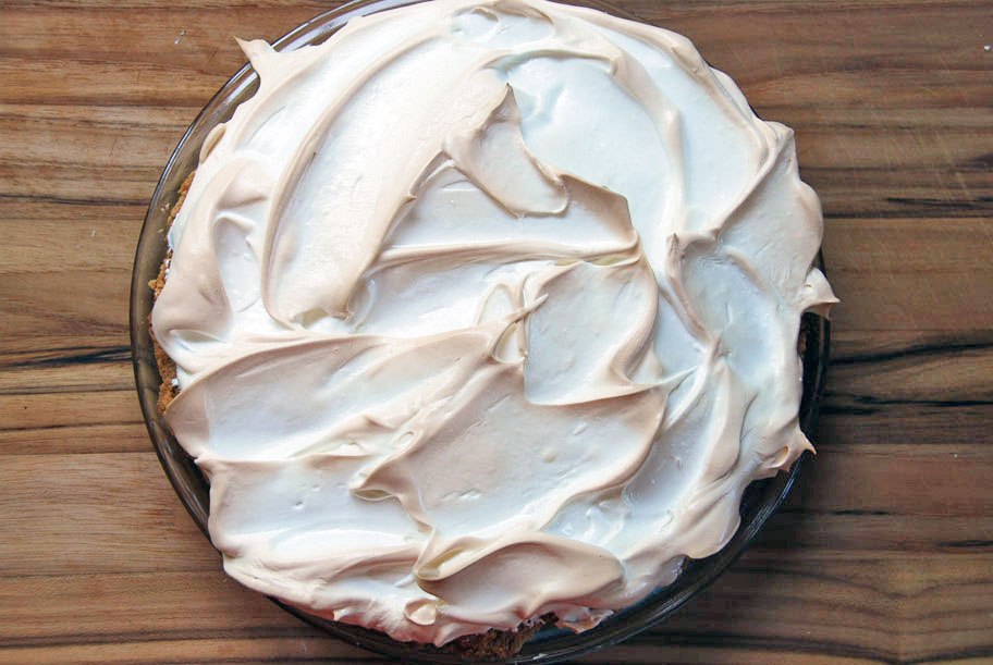 lime pie with baked meringue