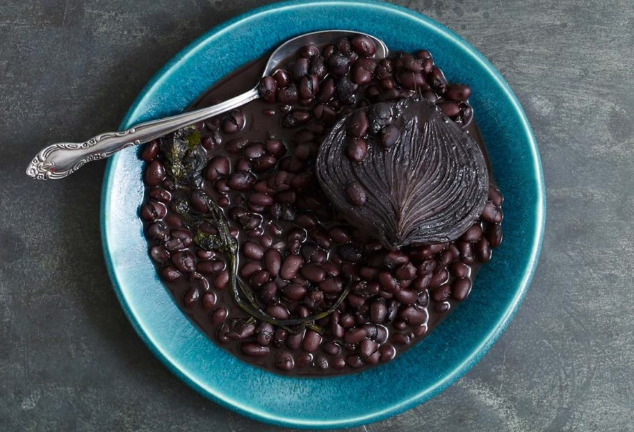 frijoles de olla or black beans from the pot