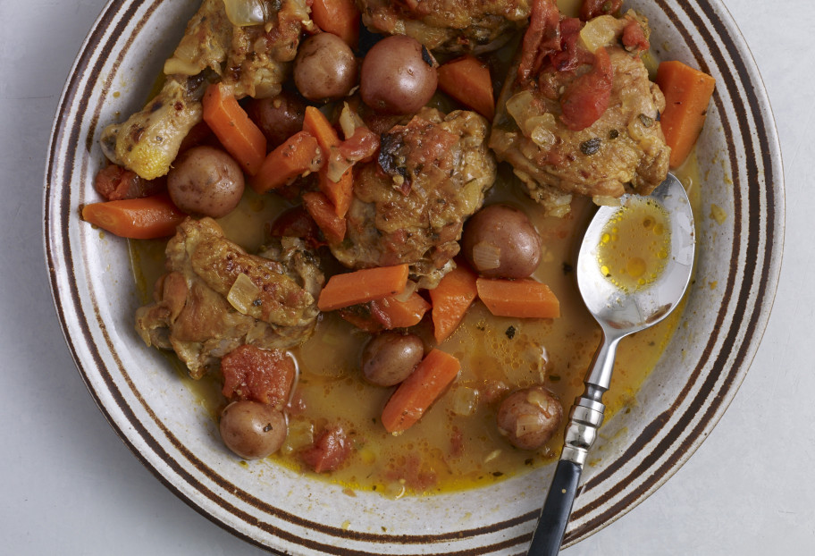 Citrus Chicken with Carrots and Baby Potatoes