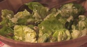 Boston Lettuce Salad with Avocado Dressing, Candied Pineapple and Spicy Pumpkin Seeds